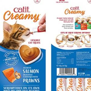 Catit Creamy Treat Salmon & Prawn 4 Pack