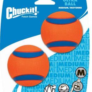 Chuckit Tennis Ball Medium 2Pk