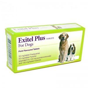 Exitel Plus Flavoured Dog Worm Tablets