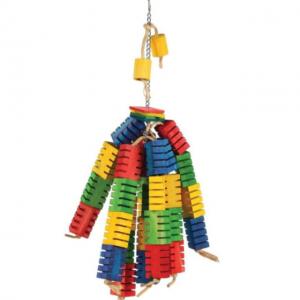 Groovy Colour Blocks Bird Toy Small