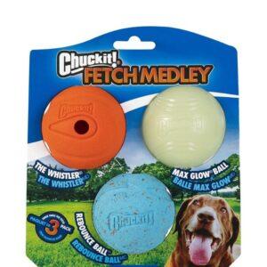 Chuckit Fetch Medley 3 Ball Pack Medium