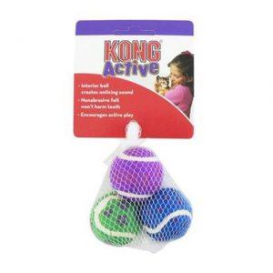 KONG Cat Tennis Balls & Bells 3 Pack