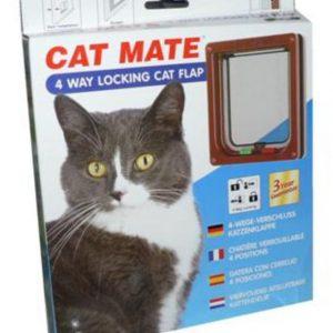 Cat Mate 4 Way Locking Cat Flap Brown