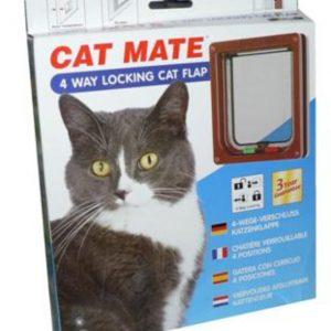 Cat Mate 4 Way Lock Flap White