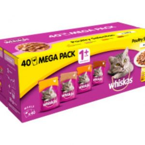 Whiskas 1+ Poultry In Jelly 40 Pack