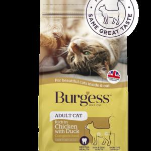 Burgess SupaCat Adult Cat – Chicken & Duck  1.5kg