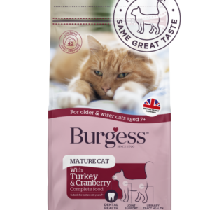 Burgess SupaCat Mature Cat – Turkey & Cranberry 1.5kg