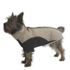 Ancol Fleece Coat Black/Taupe