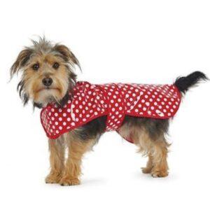 Polka Dot Rain Coat Red