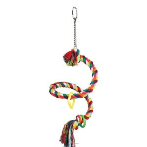 Spiral Perch Rope Toy