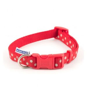 Ancol Red Polka Dot Collar