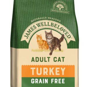 James Wellbeloved Grain Free Adult Cat – Turkey & Vegetables 300g