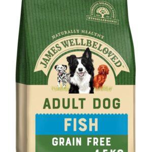 James Wellbeloved Grain Free Adult Dog – Fish & Vegetables 1.5kg