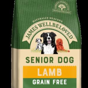 James Wellbeloved Grain Free Senior Adult Dog – Lamb & Vegetables 1.5kg