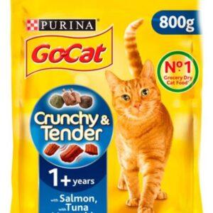 Go Cat Crunchy Salmon/Tuna 800g