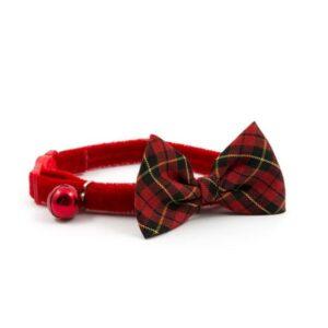 Ancol Bow Tartan Cat Collar