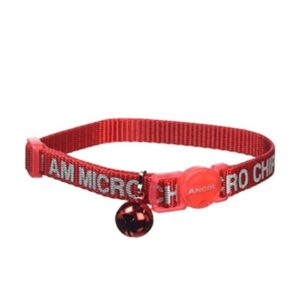 Ancol 'I Am Microchipped' Red Cat Collar