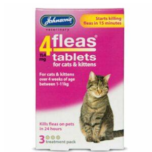 Johnsons 4Fleas Tablets – 3 Treatment Pk