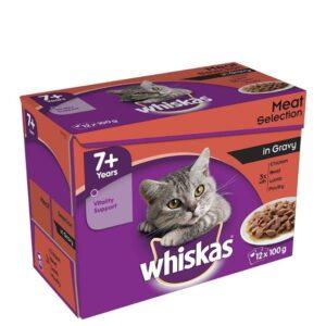 Whiskas 7+ – Meat In Gravy 12pk