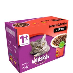 Whiskas 1+ – Meaty Selection In Gravy 12pk