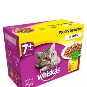 Whiskas 7+ Poultry In Jelly 12pk
