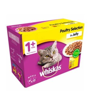Whiskas 1+ – Poultry Selection In Jelly 12pk