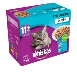 Whiskas 11+ – Fish In Jelly 12pk