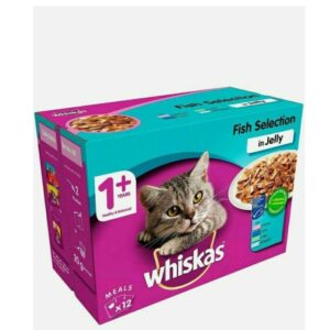 Whiskas 1+ – Fish Selection In Jelly 12pk