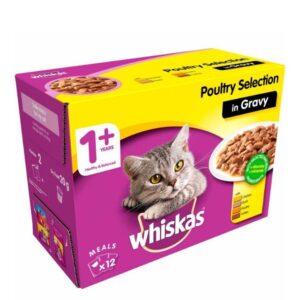 Whiskas 1+ – Poultry Selection In Gravy 12pk