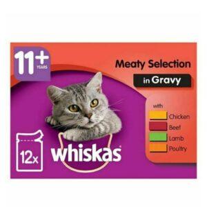 Whiskas 11+ – Meat In Gravy 12pk
