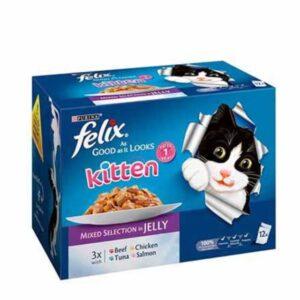 Felix As Good As It Looks – Kitten Mixed Selection In Jelly 12pk