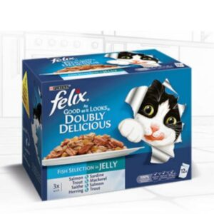 Felix As Good As It Looks – Doubly Delicious Fish In Jelly 12pk