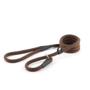 Ancol Soft Brown Rope Slip Lead
