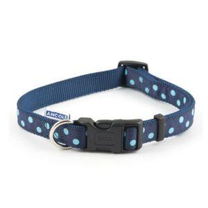 Ancol Blue Polka Dot Collar S5-9