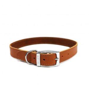 Ancol Classic Tan Leather Collar
