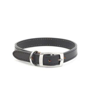 Ancol Classic Black Leather Collar